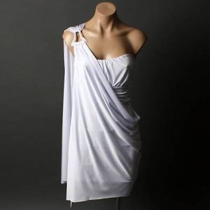 Grecian Goddess Strapless or One Shoulder Evening Womens Party ...