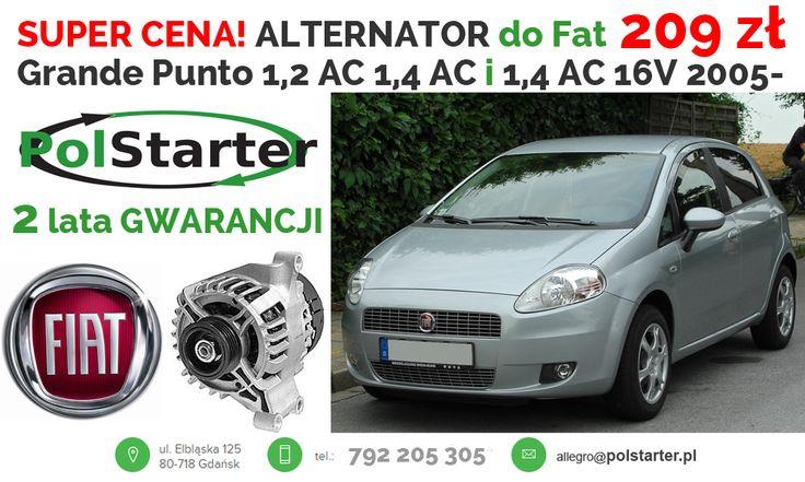 ⚫ Tylko u nas znajdziesz tak tani, regenerowany alternator do samochodu FIAT Grande Punto! 😍👌😊👍 ⚫ Nasze pozostałe aukcje w serwisie allegro:  ➜ http://allegro.pl/listing/user/listing.php?us_id=22287661 ➜ http://allegro.pl/listing/user/listing.php?us_id=26261890 ⚫ Odwiedź także naszą stronę i sklep internetowy: ➜ www.polstarter.pl ➜ www.sklep.polstarter.pl ⚫ KONTAKT: 📲 792 205 305 ✉ allegro@polstarter.pl #rozrusznik #rozruszniki #alternator #alternatory #regenerowany #FiatGrandePunto