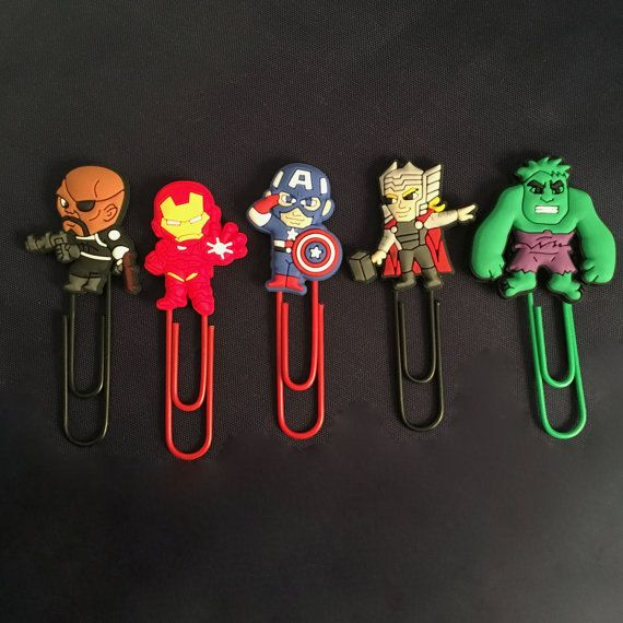 Superhero Marvel Cartoon Lego-Inspired Plastic PVC Paperclip