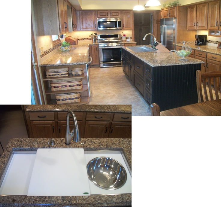 Galley Kitchen Sink: In This Kitchen We Installed A 4 Ft Galley Sink In The Island Accented With Delta Addison Touch
