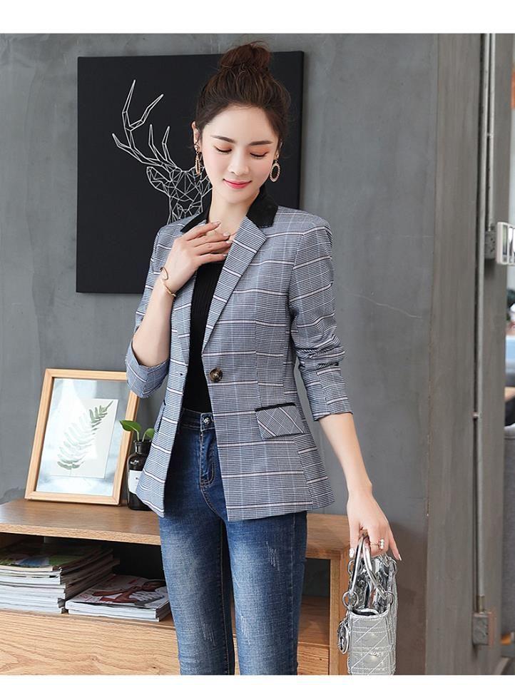 Mẫu áo vest và blazer nữ kẻ caro để tham khảo năm 2018 tại Hải Phòng ... 4e7a2a51de55