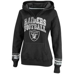 Oakland Raiders Black Women's Pre-Season Favorite II Hooded Sweatshirt $54.99 http://www.fansedge.com/Oakland-Raiders-Black-Womens-Pre-Season-Favorite-II-Hooded-Sweatshirt-_86455132_PD.html?social=pinterest_pfid22-27505