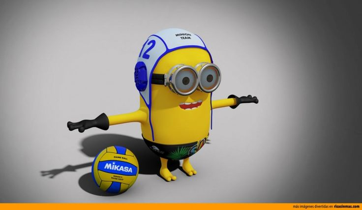 Minion jugador de waterpolo.