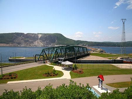 The Canso Causeway Bridge linking mainland Nova Scotia with Cape Breton Island.