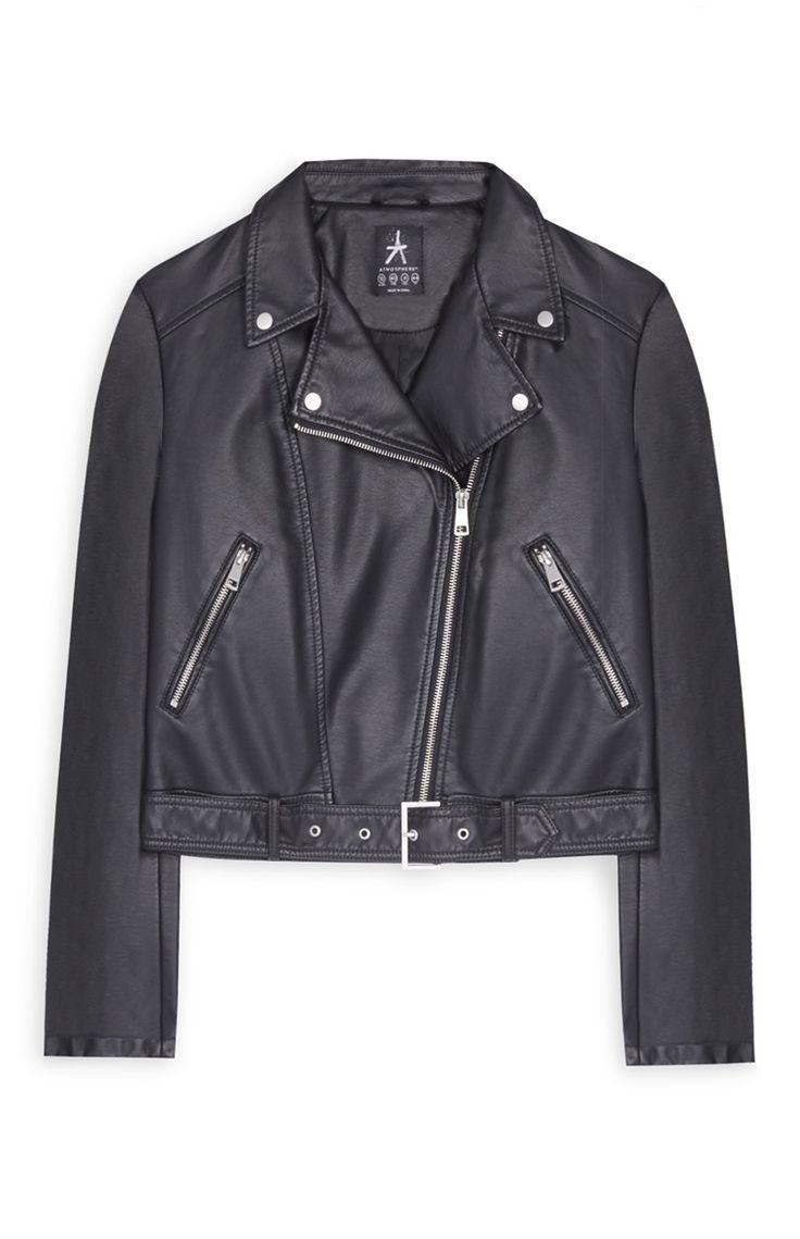 Primark - Black Cropped Biker Jacket