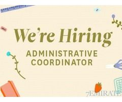 Admin Coordinator Required for Engineering Company in Sharjah