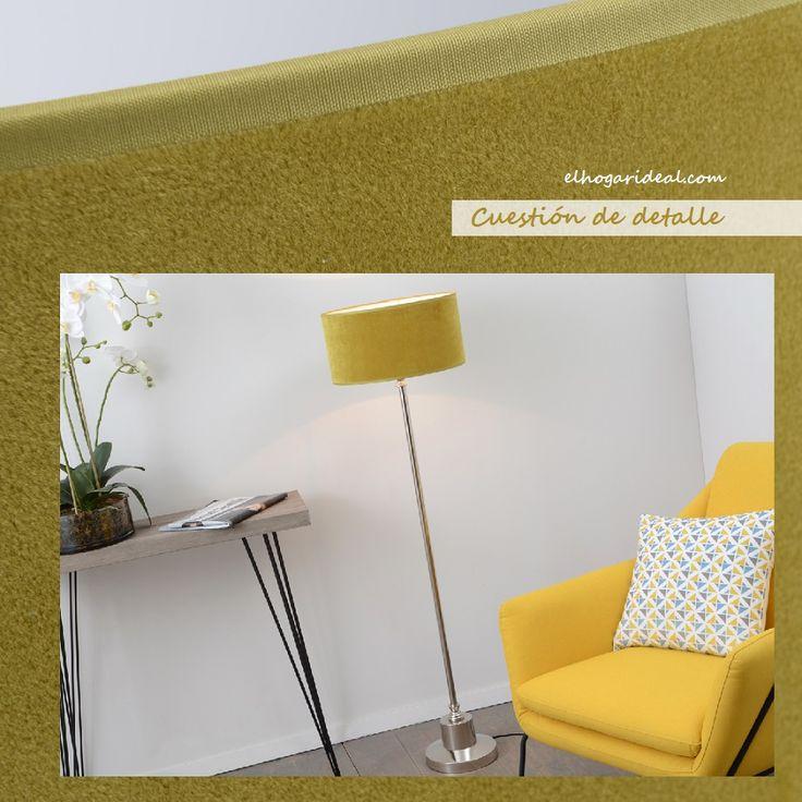 No anda, pero tiene pie. No se come, pero es mostaza. Lámpara de terciopelo Velvet. http://elhogarideal.com/es/iluminacion/1008-lampara-de-pie-velvet-amarilla.html#.VkOthfkve1s