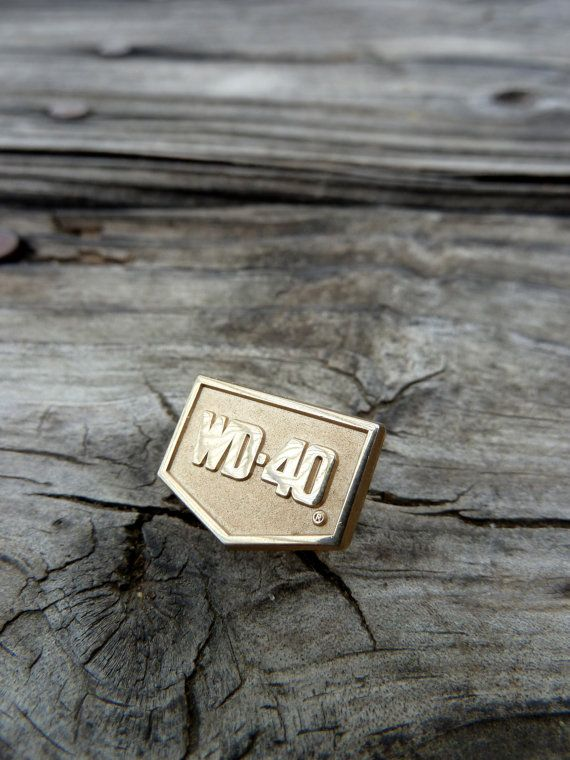 Vintage WD-40 enamel pin lapel pin squeaky door by OatesGeneral