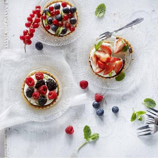Recept - Tartelettes met yoghurtroom en fruit - Boodschappenmagazine