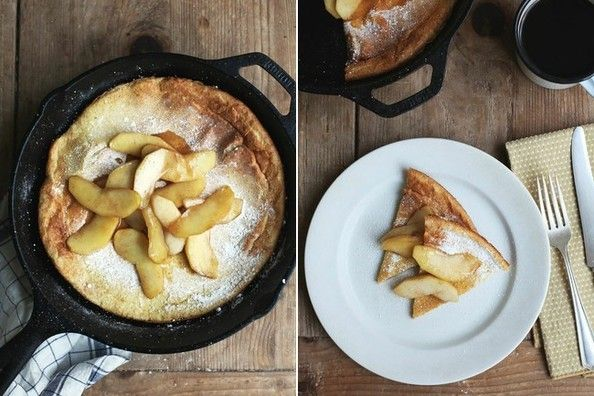 Who knew Christmas morning could get any better?  Christmas Breakfast: Dutch Baby Pancakes with Sautéed Apples #christmasbreakfast #recipe