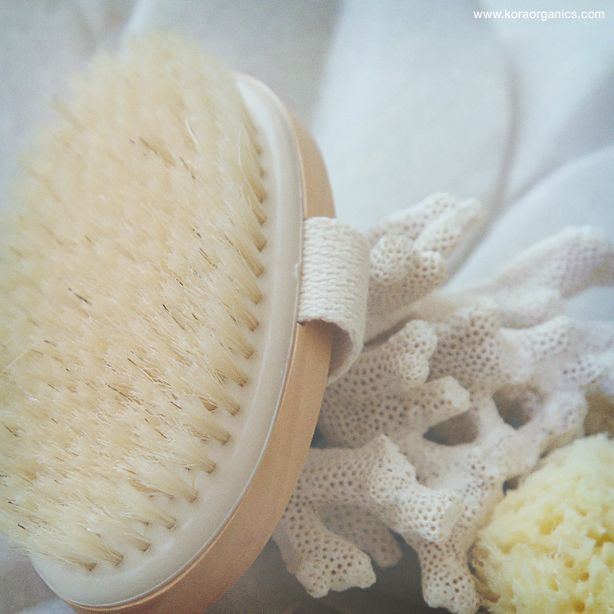 Beauty Tip: Dry body brushing will increase blood circulation and eliminate congested pores. This helps your skin to absorb more nutrients and look beautifully polished! www.koraorganics.com