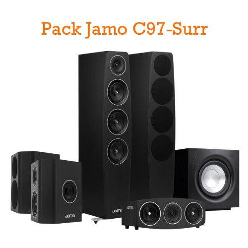 PACK DE ALTAVOCES JAMO C97-SURR. Formado por: 2 unidades Jamo C97 (Altavoces suelo) + 2 unidades Jamo C9 Sur (Altavoces surround) + 1 unidad Jamo C9 CEN (Central) + 1 unidad Jamo SUB J110 (Subwoofer). #Jamo #altavoces #conjunto #pack #Ofertas