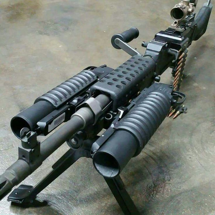 M249 with two 40mm Grenade launchers