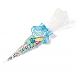 Promotional Easter Cone Filled With Easter Sweets And Mini Chocolate Eggs