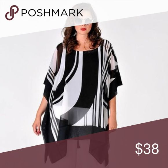 🖤Black&WhiteSwirlFlowyTunuc🖤 Loving this gorgeous piece and asking for pre-orders…Manufacturer is running low so please specify your size although the fabric and style is very forgiving. More subtle than a zebra print but impactful and easy to wear with leggings jeans at the beach or out to dinner this super versatile piece will go with you anywhere! Tops
