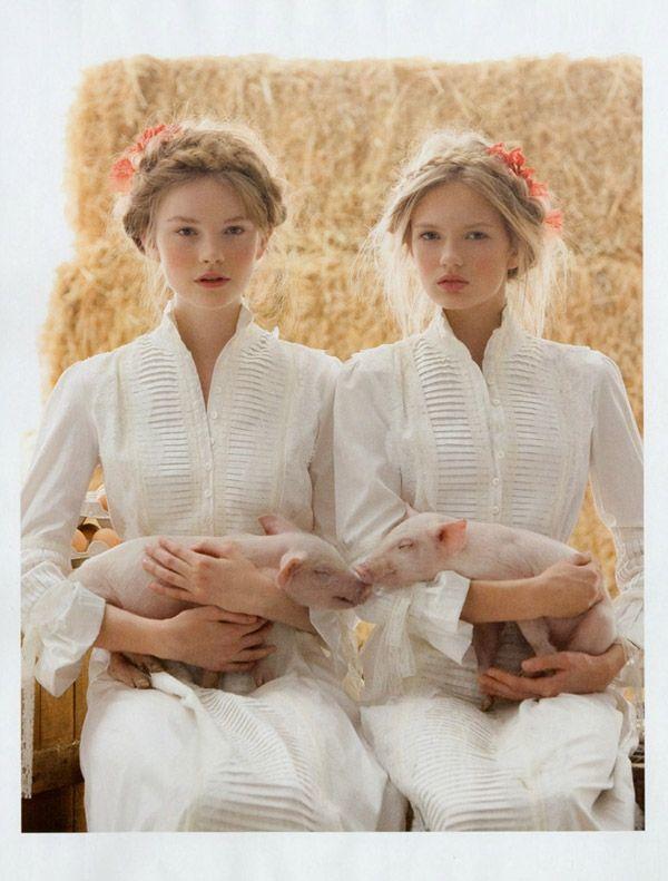 Romee Strijd & Donna Loos: Vogue Novias Spring/Summer 2010