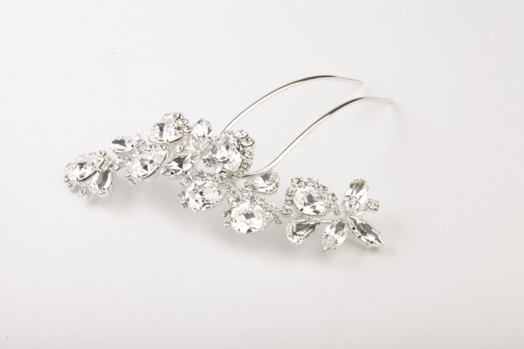 Hairpin//Forcina per capelli in strass swarovsky crystal  €140,00 #wedding #bride #jewels