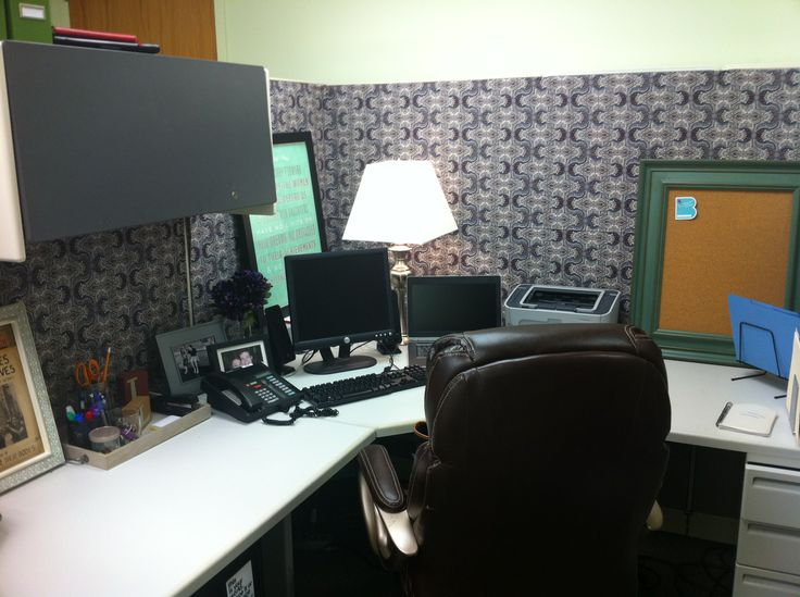 17 best images about my work space on pinterest corner Cubicle bulletin board ideas