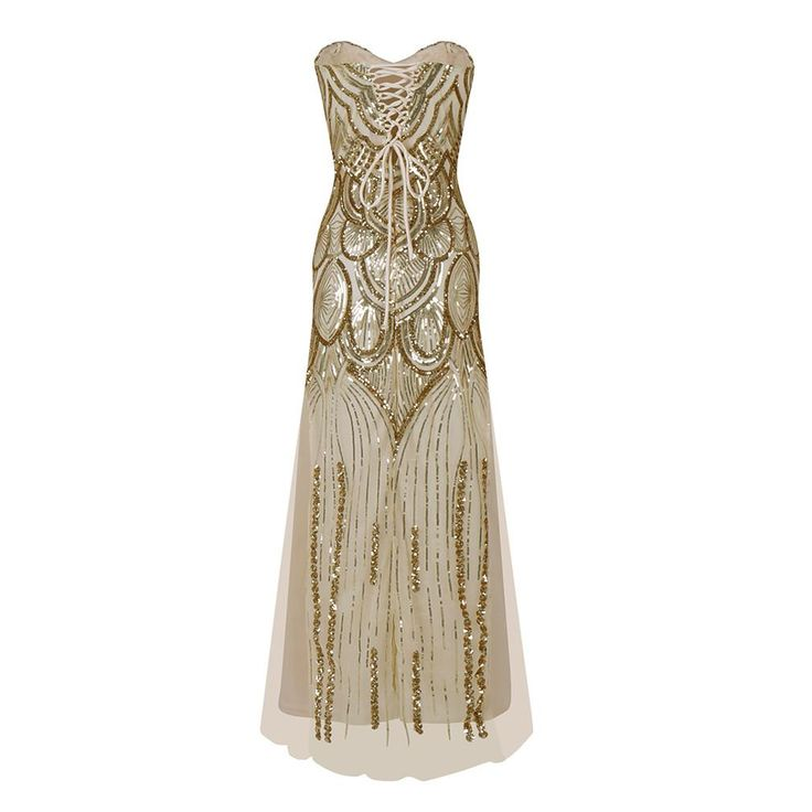 Great Gatsby  20s Style Shining Flapper Dress 1920s Vintage