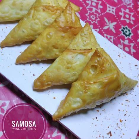 Resep Samosa Kulit Pangsit Oleh Winny Kitchen Wiwik Indarwati Resep Pangsit Makanan Samosa