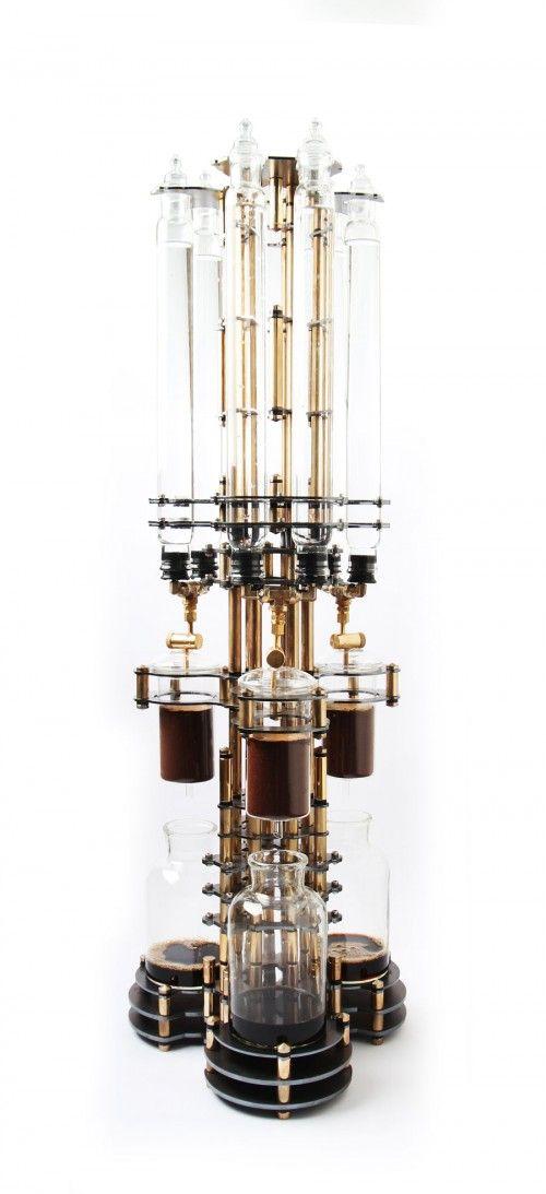 Dutch Lab - NEW STEAMPUNK brass and borosilicate glass coffee maker #coffee #design #steam #steampunk