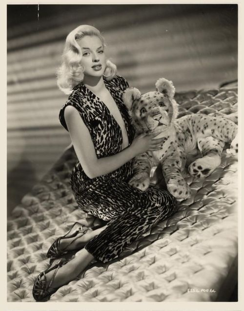 British bombshell Diana Dors with *a cuddly toy!* 1954