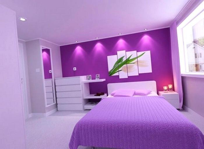 Schlafzimmer Farblich Gestalten Lila Home Country Style Bedroom