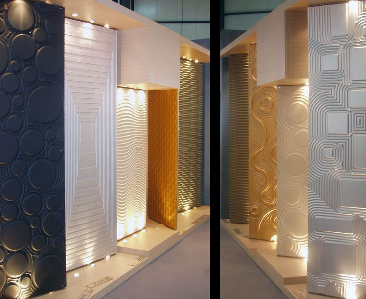 3D textured surfaces that can be applied to any piece of furniture or wall paneling
