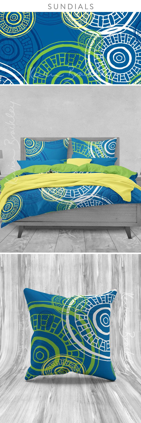 Bedding and cushion in my Sundials desing