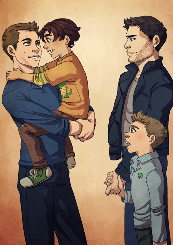 """DILF"" one of my favorite and most adorable Sterek AU fics! #TeenWolf"