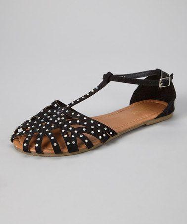 Black Adelaide Sandal by Jeru #zulily #zulilyfinds