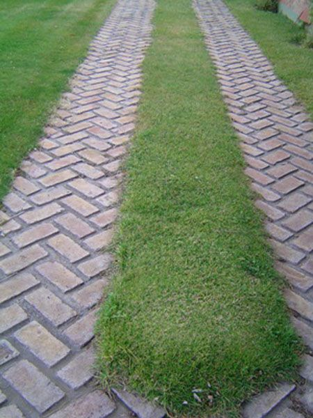 Caminero de ladrillo jardin pinterest outdoors - Solados de hormigon ...