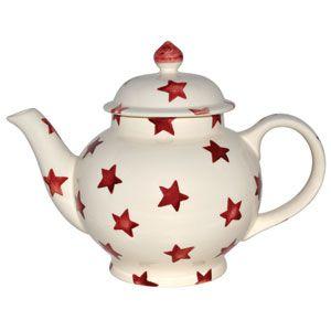 """Red Star"" Red Star 4 Cup #Teapot at Emma Bridgewaterhttp://www.emmabridgewater.co.uk/invt/1rst010104"