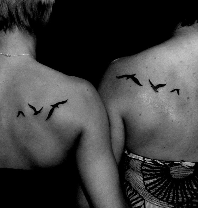 friendship tattoo. As in birds of a feather...