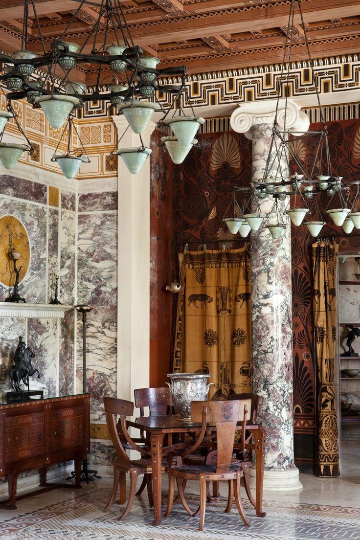 46 best villa kerylos images on pinterest classical. Black Bedroom Furniture Sets. Home Design Ideas