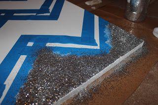 John and Rachel: Glitter Chevron Canvas Tutorial