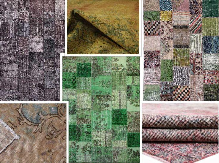 Naast onze vintage #reloaded / #recoloured tapijten hebben wij een groot assortiment #vintage patchwork tapijten.