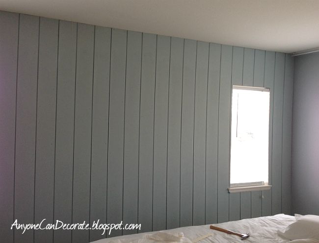 Anyone Can Decorate: DIY'd Wood Panel Wall - Master Makeover Progress Report