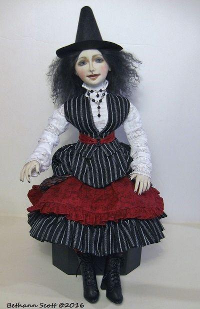Cloth Witch Art Doll by Bethann Scott ©2016