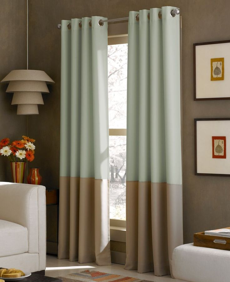 Kendall 52 X 84 Panel Hanging Curtains Color Block
