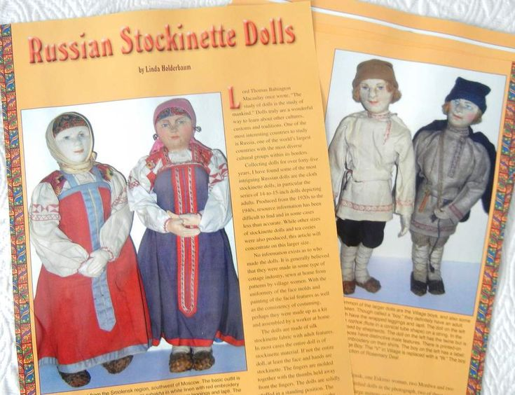8p History Article + Color Pics - Antique Russian Stockinette Dolls | eBay