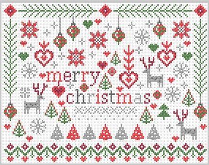Little Merry Christmas Cross Stitch Kit | sewandso