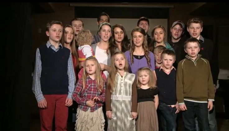 The Duggar kids singing for their parents