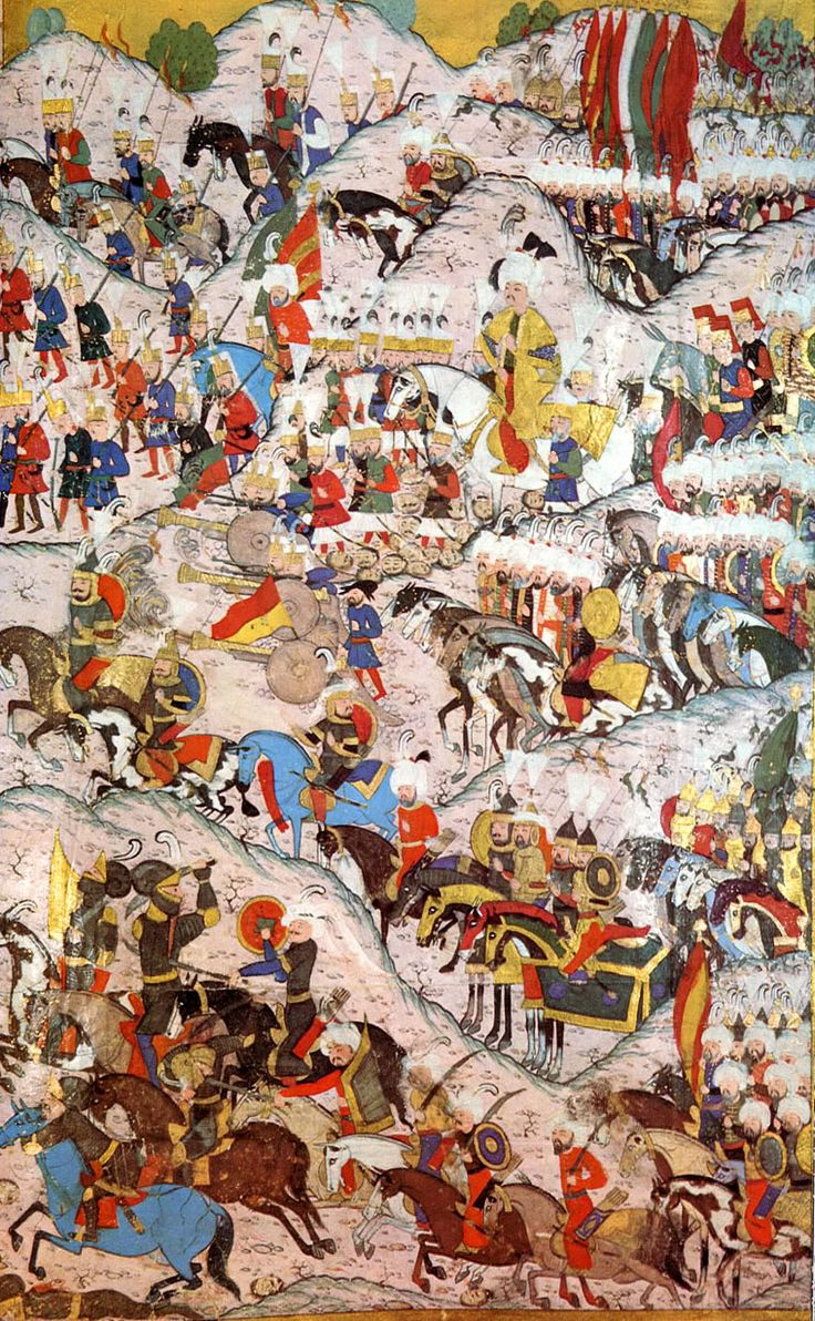 Suleiman I the Magnificent in the Battle of Mohács