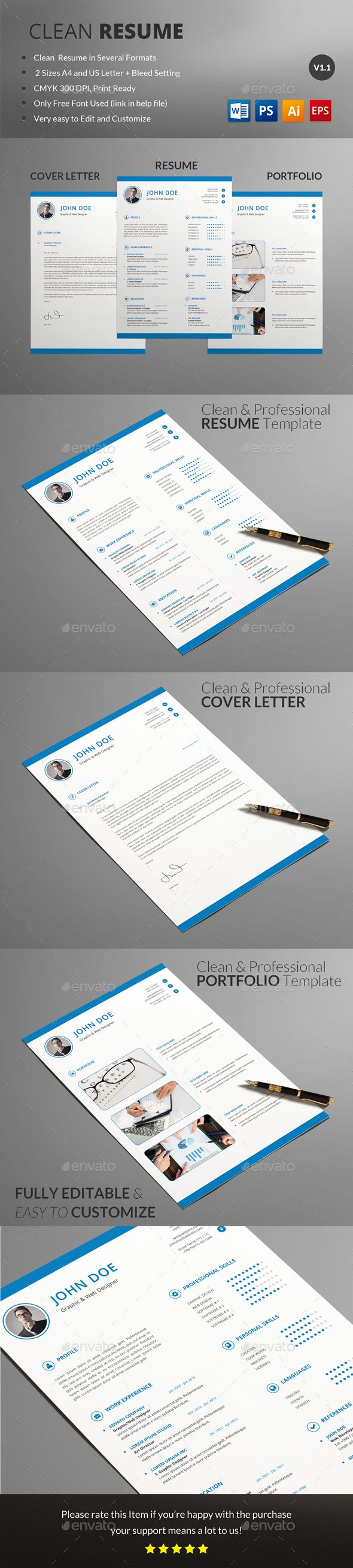 Resume Template PSD, Vector EPS, AI. Download here: http://graphicriver.net/item/resume/15220857?ref=ksioks