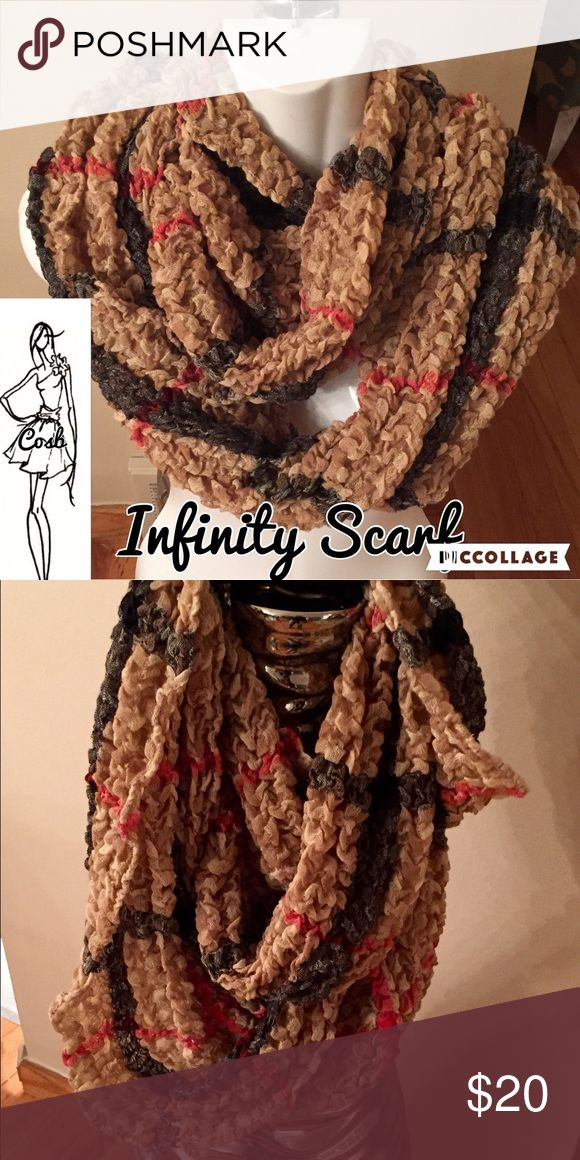 Burberry Print Infinity Scarf Burberry print infinity scarf. Scarf is made of poplin material. Cute! COSB Accessories Scarves & Wraps