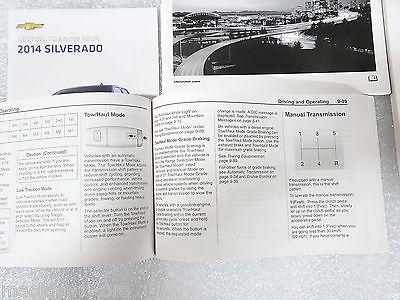 2014 silverado owners manual
