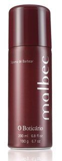 Malbec Shaving Foam (espuma de barbear) 200ml by O Boticario. $23.98. O Boticario. Top of the line Brazilian Cosmetic. Malbec Shaving Foam (espuma de barbear) 200ml  This product is worth every penny!!  Malbec shaving foam provides a pleasant shave through its rich and creamy foam in estates emolientes and umectantes that leave the skin soft and smoothly perfumed.