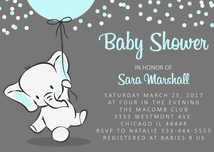 elephant baby shower invitation elephant holding balloon baby shower invitation pink nerd printables