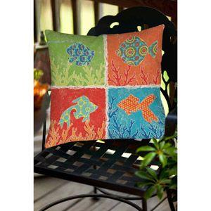 """Thumbprintz Aquarium Icons Indoor/Outdoor Pillow, 16"""" x 16"""""""